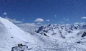 Trail Nordic skiing VALLOIRE - Roche Olvera, pointe de la Mandette et col du Galibier - Photo 1