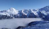 Trail Nordic skiing ALLEVARD - tricotage crête des Plagnes - Photo 3