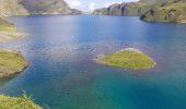 Randonnée Marche BAGNERES-DE-BIGORRE - Lacs Hourrec Bleu et vert via le col de Bareilles - Photo 9