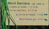 Randonnée Marche BELLECOMBE-EN-BAUGES - Mont Derrière-ch. du Sollier - Photo 1