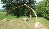 Randonnée Marche Gesves - Sentiers d'art boucle Haut-Bois - Haltinne - Photo 2