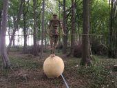 Point d'intérêt Gesves - OEuvre n°101 « Le funambule » Paul Tellier, Belgique – 2016 - Photo 1