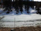 Point d'intérêt PUY-SAINT-VINCENT - le lac des Hermes encore sous la glace - Photo 1